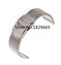 Venda de reloj de 24 mm de plata de acero inoxidable Bracelt correa banda de malla