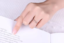 ZOCAI New Arrival 0.34 CT Real Diamond Wedding Women Ring in 18K Rose Gold (Au750) W06305