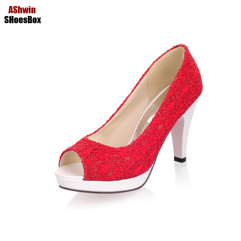 summer sandals women slip on lace high heels pumps woman peep toe red bottom platform stiletto lady comfort shoes wedding shoes new women pumps high heels shoes woman peep toe party wedding platforms fashion chains stiletto slip on shoes black red 35 40