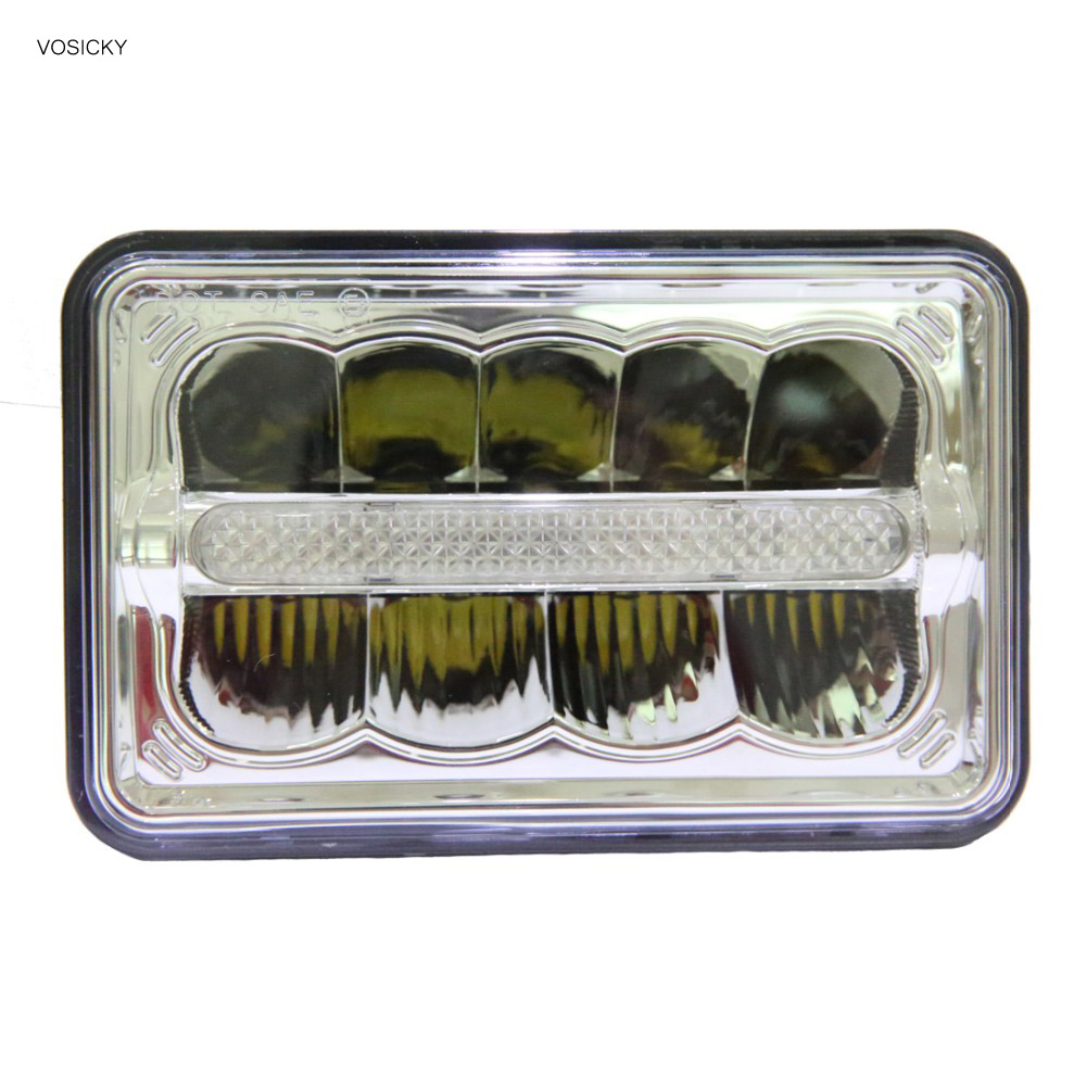 4x6 Inch LED Headlight Square light for Jeep Truck HI LO Beam DRL for Ford Chevy