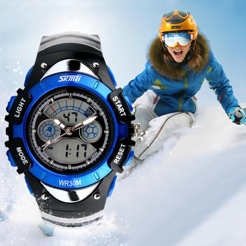 Skmei kids Children LED Quartz Watch For Boy Girl Diving Wristwatch Blue#831