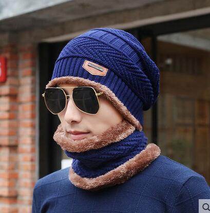 [Cllikko] knit scarf cap neck warmer Winter Hats For Men women Beanies Fleece mask Knit hat Bonnet balaclava aetrue winter knitted hat beanie men scarf skullies beanies winter hats for women men caps gorras bonnet mask brand hats 2018
