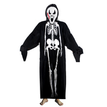 adults printed skeleton costume men women scary ghost halloween costumes for cosplay masquerade party fancy dress