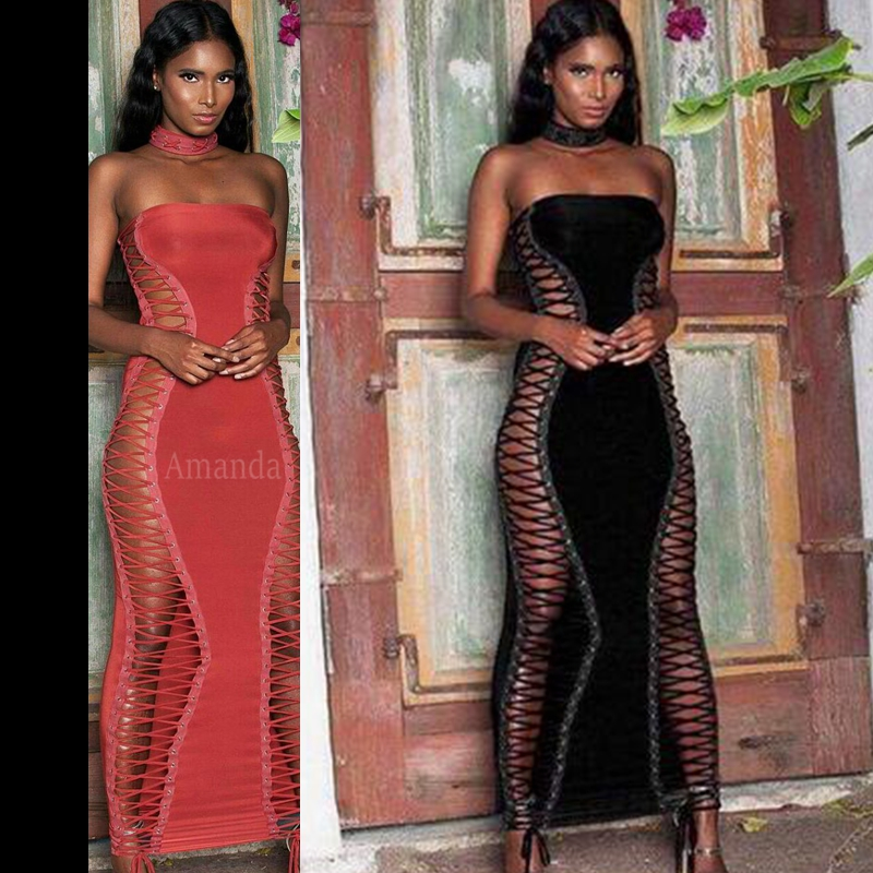 2019 new summer womens bandage dress Vestidos sleeveless