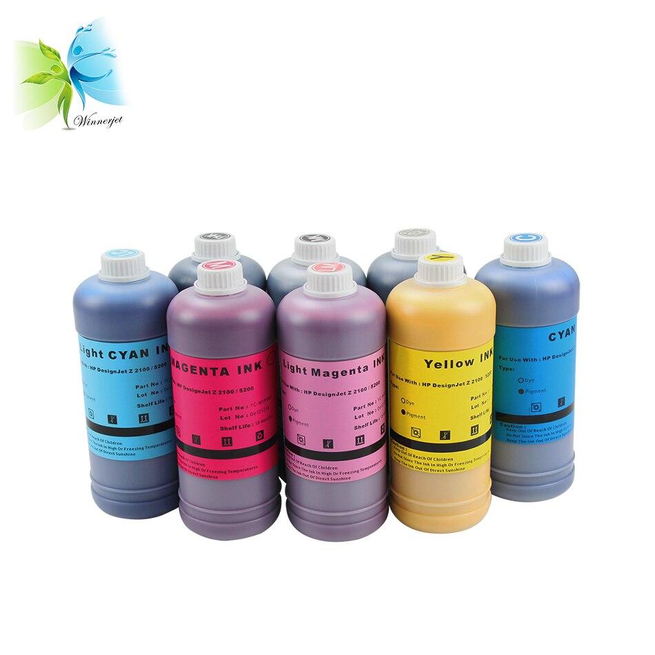 Winnerjet 1000ML per bottle WINNERJET 8 colors dye ink for Hp Designjet Z2100 printer replacement