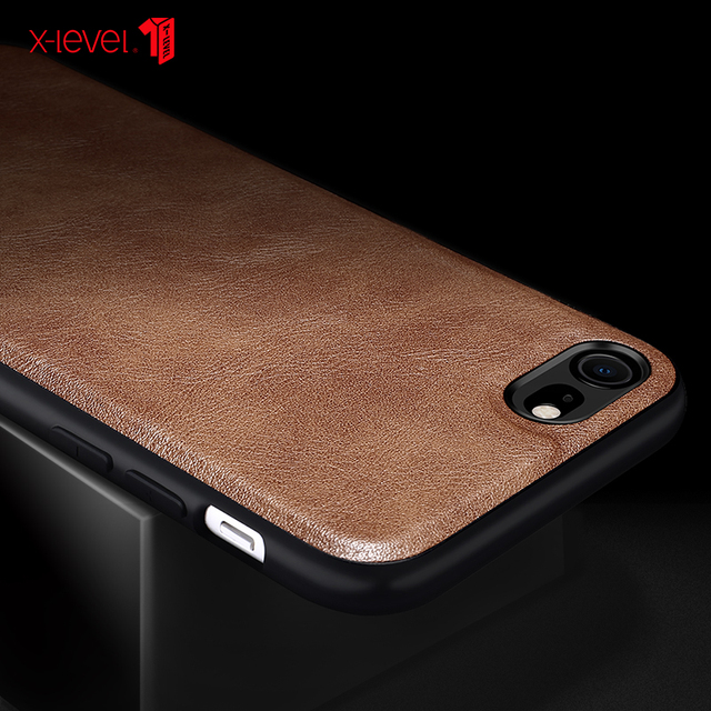 X-Level Leather Case For iPhone SE 2 2020 8 7 6 6s Plus Funda Original Shockproof Back Phone Cover Coque For iPhone 6 6s 7 8 3