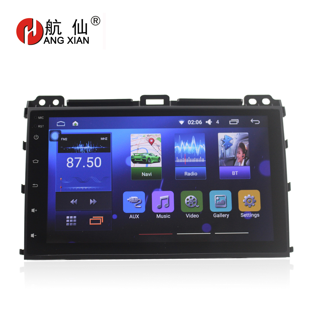 Free shipping 9 car radio for Toyota Prado 120 2004-2009 Quadcore Android 6.0 car dvd player with 2G RAM,32G Rom,steering wheel