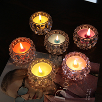 3Pcs/ box NEW For Glass Tea Candle Holder Aromatherapy Candle Birthday Party Supplies Candles Scented Candle Wedding Decor