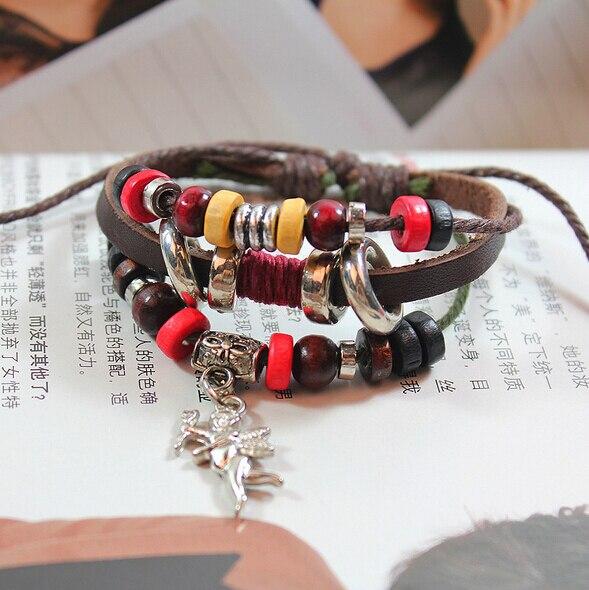 Arrow Of Cupid God Multi Layer Leather Bracelet Women Men Jewelry