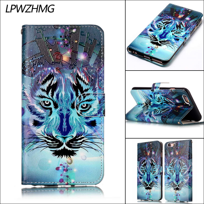 LPWZHMG PU Leather Phone Flip Cases For iphone 5 5s 6 6s 7 Plus Card Holder Wallet Case Full Body Protection Mobile Phone Case