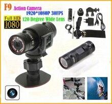 F9 motorcycle bike Tachograph Full HD Helmet Camera DV extreme sport Camcorder Mini Camcorder Sport Camera