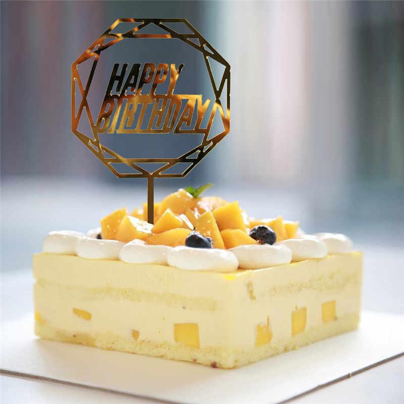 Christmas Wedding Cake Toppers.2019 Happy Birthday Cake Toppers Birthday Cupcake Wrapper Wedding Cake Topper Cake Supplies Thanksgiving Christmas Decorations