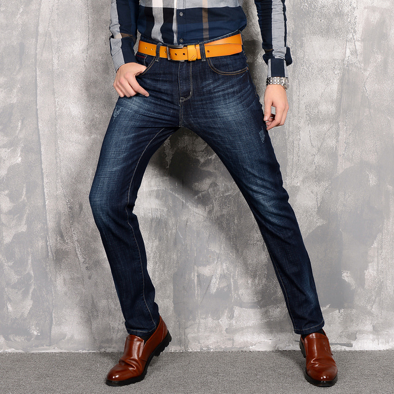 The new 2016 Men's jeans Elastic cultivate one's morality A pair of jeans