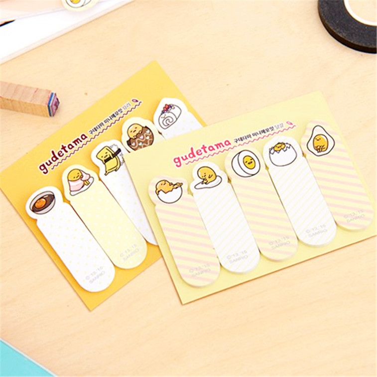 BLINGIRD Creative Egg Yolk Post Self-Adhesive planner Sticker set Office Stationery PostScript Memo N Paste Each 5 Expressions