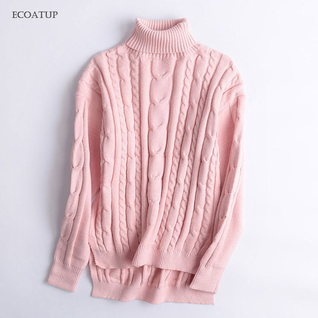 Thicken High Neck Sweater Women 2017 Fall Autumn Vintage Cable Knitted  Twist Pullover Female Winter Warm 1668e2196