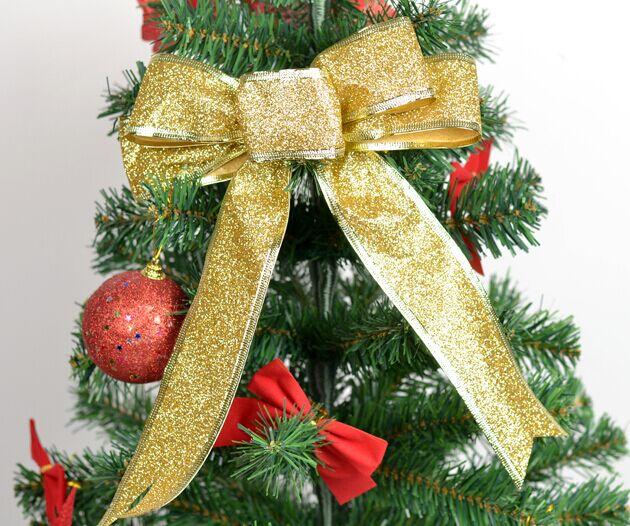 5 Unids / lote 25 cm Grande Brillante Glitter Ribbon Bow Decoración - Para fiestas y celebraciones - foto 6