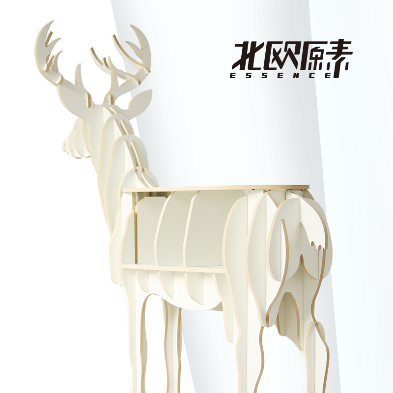 Scandinavian creative deer elk Console Tables animal shaped wooden bookcase shelf creative home decorations ornaments desk table