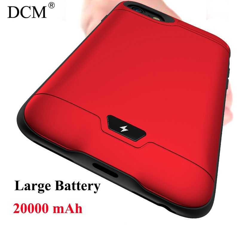 20000 mAh Charger Case Portable Power Bank Case with Audio Frequency Backup Battery cover Kickstand holder for iphone 7 8 plus