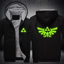 The Legend of Zelda Hoodie New Anime Cosplay Coat Winter Warm Jacket Fashion Zipper Thick Sweatshirt
