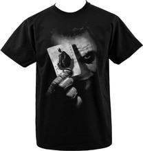 Mens Black T-Shirt Batman Joker Playing Cards Dark Knight Heath Ledger S 3XL Men Short Sleeve Original