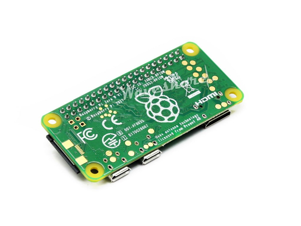 Waveshare Raspberry Pi Zero WH The Low-Cost Pared-Down Pi with Built-in WiFi and Bluetooth Pre-soldered GPIO Headers