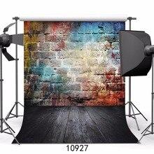 SJOLOON цветные блоки стены и деревянный пол Виниловый фон для фотосъемки дети фото фон цифровой печати фон для студии prop