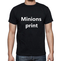Brand Youth Dawn Of The Minions Cotton Shirts Round Collar Short Sleeve Tshirt Mens Custom Group