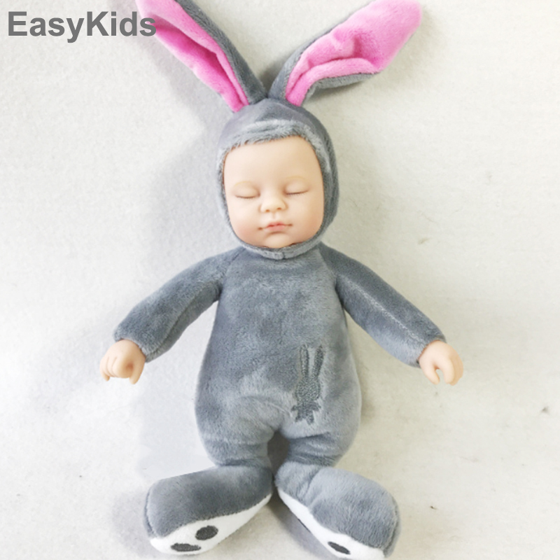 EASYKIDS Silicone Born Reborn Alive Plush Toy Baby Dolls