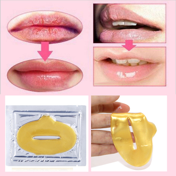 10PCS Women Lip Masks Gold 1