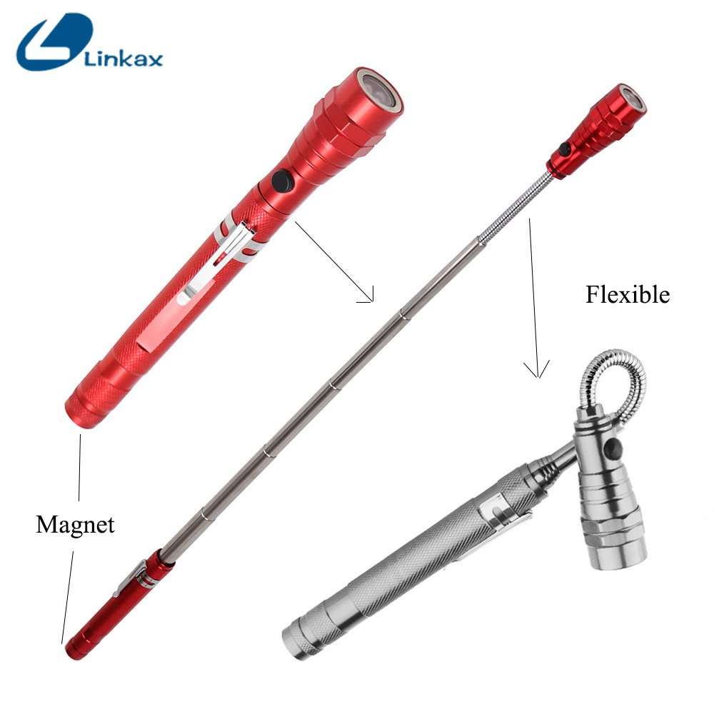 Flexible Flashlight Torch Magnetic Head Pick Up Tool Work Light Lamp 3 Colors