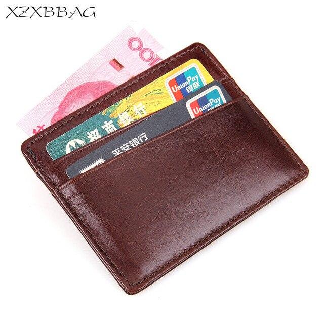 b608ea390ca XZXBBAG Lederen Bankkaart Geval Dunne Kaart Portemonnee Mannen Zakelijke ID  Creditcards Houder Kaarten Pack Cash Pocket