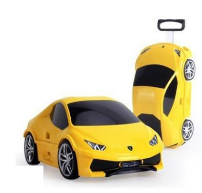 Trolley Suitcase Rolling-Luggage Children Travel Boys Kids Car for Wheeled