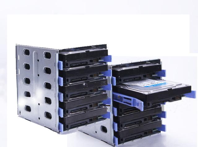 """Caja de Transporte de plástico y Acero 5 Bahía de Disco Duro De 3.5 """"SAS SATA IDE HDD Proteja Caso 5-bay externo SSD docking station"""
