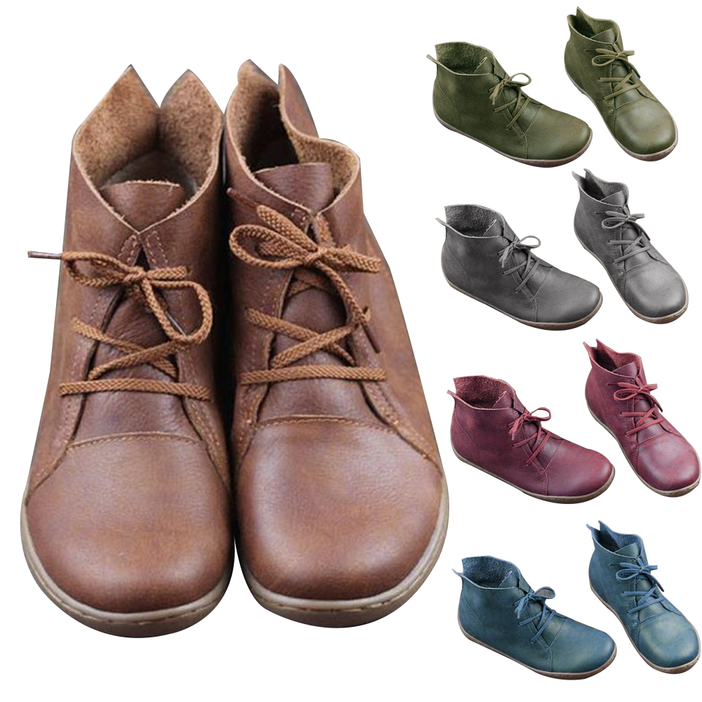 Shoes Women Sneakers Flats Loafers Lightweight Soft-Bottom Genuine-Leather Retro Casual