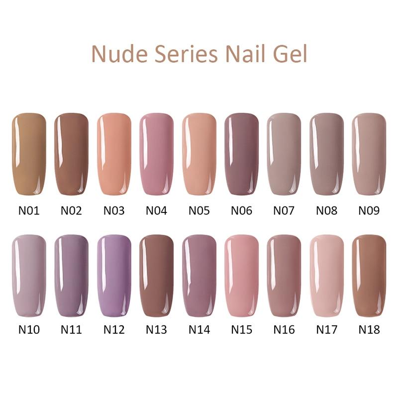 Arte Clavo 15 ml UV Gel Nail Polishl Nude Color Series Hybrid Nails Lacquer UV Led Nail Gel Soak Off Nail Art Gellak Gel Varnish 2