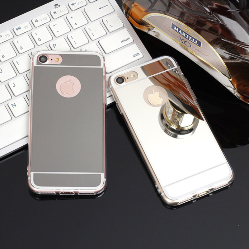 Dreamysow New Fashion Luxury Mirror Case For iPhone 5 5s 4 4S SE 6 6S 7 plus Shell Back cover case Soft TPU Back Cover