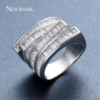 NEWBARK Special Design Fascinating Ladies Eternity Ring For Woman 4 Layer With AAA CZ Crystal Clear