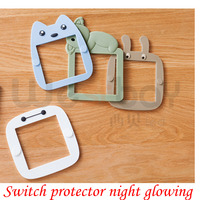 DIY Glowing Cute Switch Wall Protector Night Light Bedroom Wall Decal Poster Switch Protection Cover For
