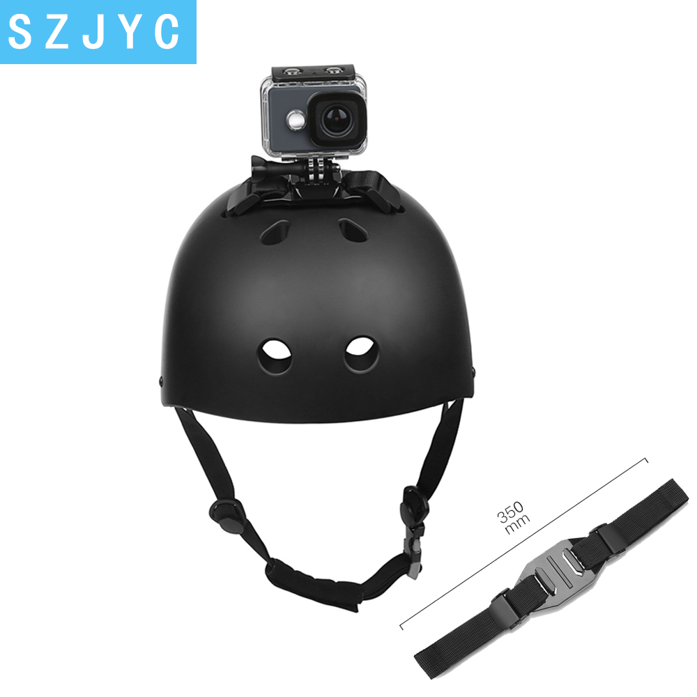 Adjustable Helmet Strap for GoPro Hero <font><b>7</b></font> 5 6 <font><b>4</b></font> Session SJCAM SJ4000 SJ <font><b>5000</b></font> Xiao mi Yi 4K h9 Go Pro Mount Cycling Accessory image
