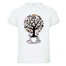 COFFEE TREE CUP BEAN LIFE mashup dtg mens t shirt tees NEW 2017New T Shirts Funny Tops Tee New Unisex Funny Tops цена и фото