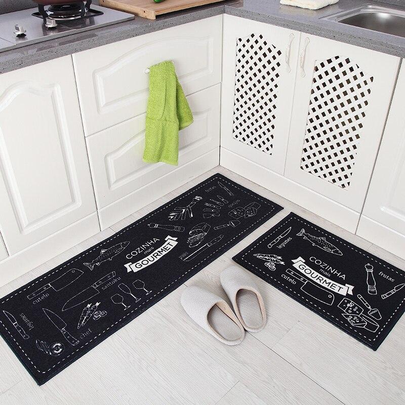 Nové 40 * 60cm a 40 * 120cm 2ks Kuchyňské rohože protiskluzové pásy vodou omyvatelné Mats hala domácí ložnice noční rohož koupelová podložka