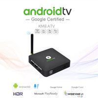 KM8 2GB RAM 16GB ROM TV Box Android 8.0 Amlogic S905X 2.4G WiFi HDR 10 H.265 H.264 Set top Box Voice Control Media Player