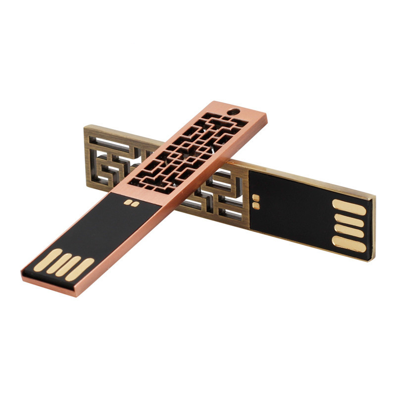 Image 2 - Chinese Style Metal Usb Flash Drive 32gb Pen Drive Usb 2.0 Flash Disk High Speed Pendrive 4gb 8gb 16gb 64gb 128g Free Print LOGO-in USB Flash Drives from Computer & Office