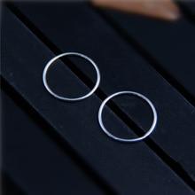C & R 925 anillos de plata esterlina para mujer simplicidad Superficie de pulido 1 mm de ancho muy delgado anillo de plata tailandesa joyería fina tamaño 4-7