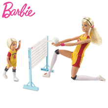 цена на Original Barbie Doll Little Volleyball Teacher Fashion Girl Gift A Birthday Present Boneca Kids Toys for Girls Children