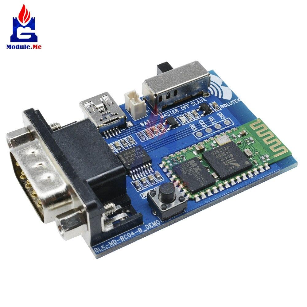 RS232 Bluetooth adaptador Serial Junta comunicación Maestro Esclavo 2 modos 5 V Mini USB Bluetooth Serial Port módulo de perfil