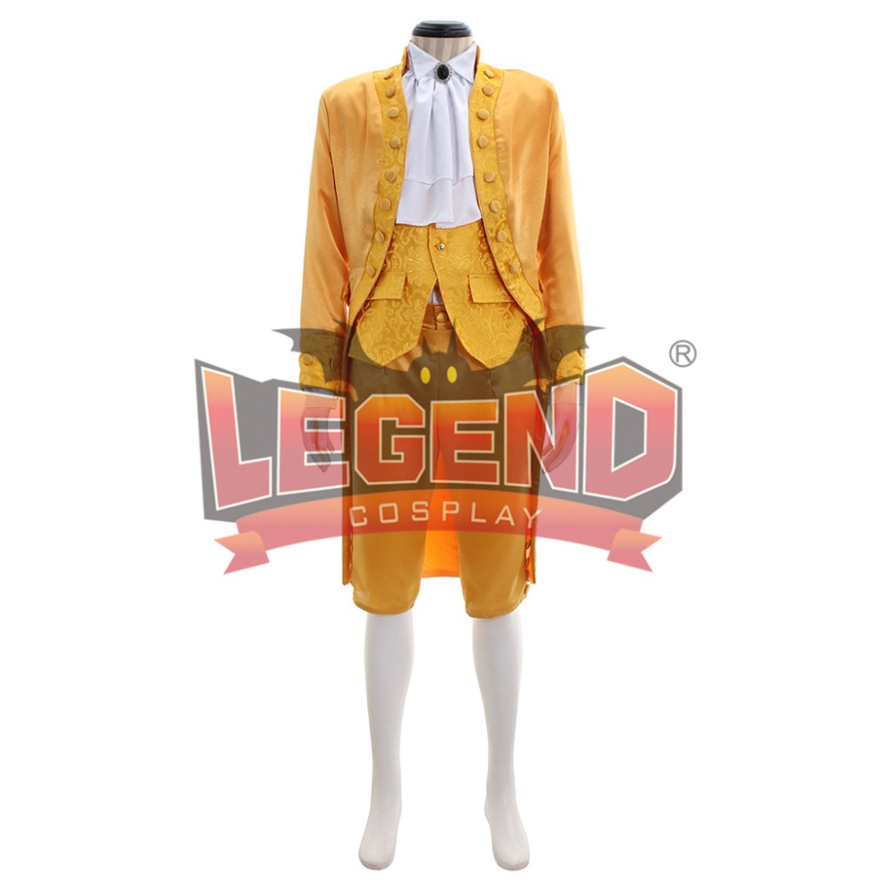 18th Century rococo colonial men fashion outfit fancy dress rococo yellow Frockcoat 1700s outfit men medieval cosplay costume
