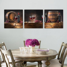 3 pcs hot sell modern wall painting red wine art picture modern paint canvas prints cheap art picture