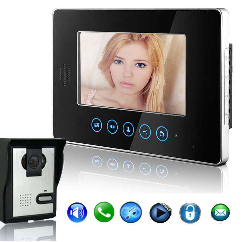 ФОТО DATA Best Price ! TFT 7 Inch Touch Key Color LCD Video Door Phone Doorbell Video Intercom System top quality apr5