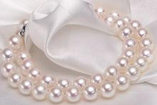 noble women gift Jewelry Silver Clasp 17-17.5inch  Natural AAA 10-10.5mm natural south seas white pearl necklace